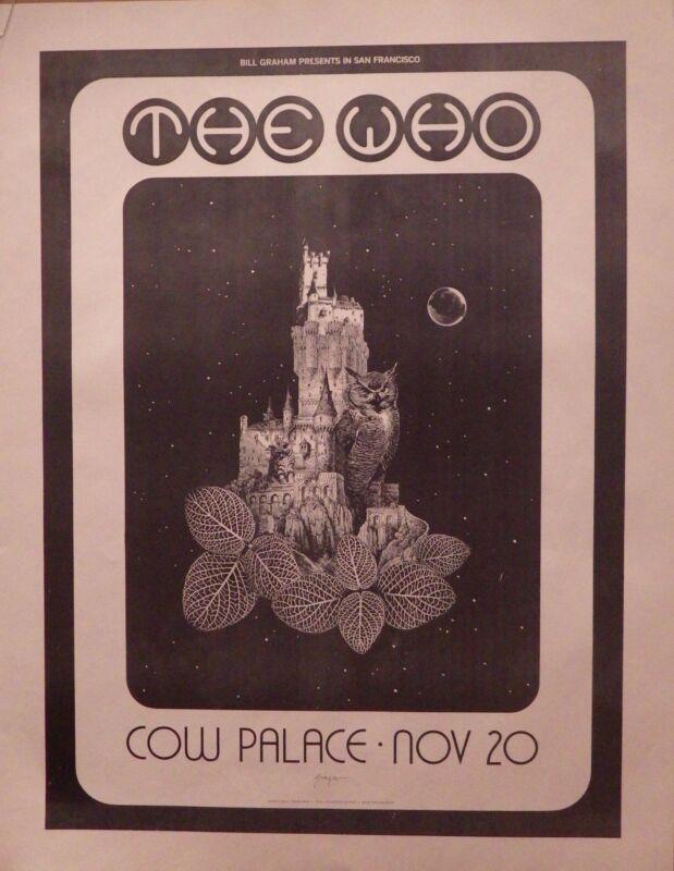 TOUR POSTER~Bill Graham Presents The Who Cow Palace San Francisco 1973 NOS Rare~