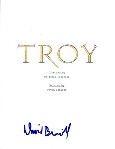 David Benioff Signed Autographed TROY Full Movie Script COA VD