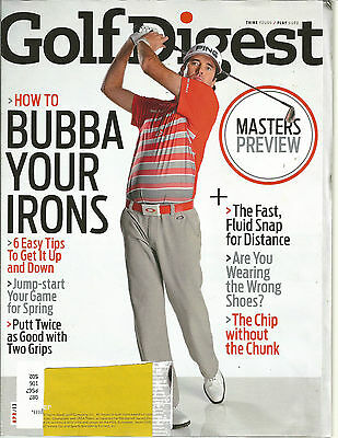 Golf Digest Irons - Golf Digest April 2013 Bubba Your Irons/Masters Preview/Jump-start your spring