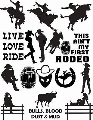 73 Western Country Cowboy Cowgirl Vector Clipart for Vinyl Cutter