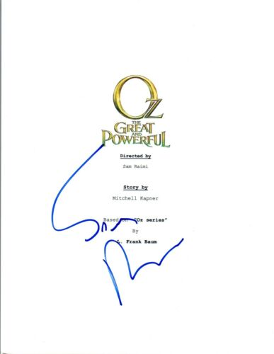 Sam Raimi Signed Autographed OZ THE GREAT AND POWERFUL Movie Script COA VD