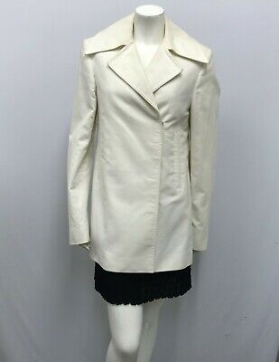 GUCCI JACKET OFF WHITE 100% COTTON FABULOUS STYLE NEEDS TO BE DYED SIZE 42 S  for sale  Shipping to India