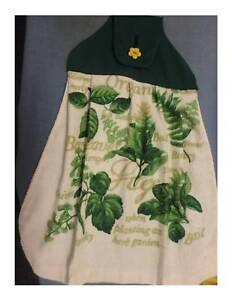 Hanging Hand Towel - Green Top - Herbs Oregano Sage - NEW Greenwood Joondalup Area Preview