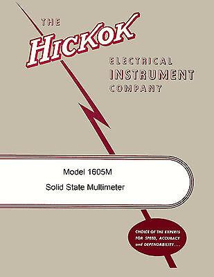 Hickok 1605m Solid State Multimeter Operators Maintenance Manual
