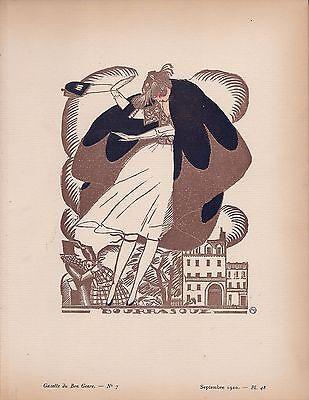 Fernand Simeon  Gazette Du Bon Ton   Bourrasoue