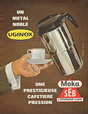 publicit 1964 uginox moka seb cafeti re. Black Bedroom Furniture Sets. Home Design Ideas