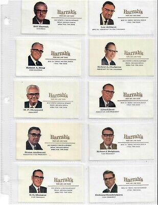 138 Bill Harrah Casino Reno Tahoe Las Vegas San Diego Executives + Business Card