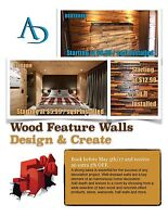 Wood Feature Walls Starting at $5.99/sq.ft