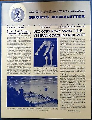 1966 Air Force Academy Sports Newsletter April Issue