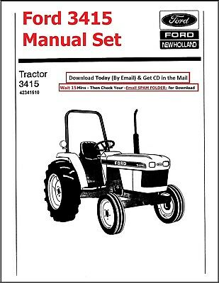 Ford 3415 Tractor Manual Master Set - Technical Repair Parts Operator Maint