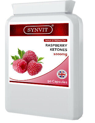 Raspberry Ketone Max Strength 90 Caps 1000mg; Weight Loss; Slimming Diet; SYNVIT - Max 90 Caps