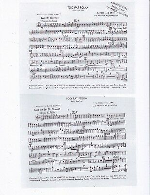 Too Fat Polka Concert Band Sheet Music