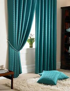 90inch X Teal Curtains