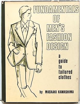 Fundamentals of Men's Fashion Design: A Guide to Tailored Clothes 1974   Scarce!