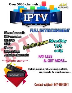Best iptv service in town. 15$ only....