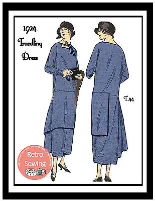 1920s Travelling Dress  Sewing Pattern - Flapper - Downton for sale  United Kingdom