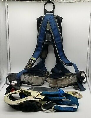 Dbi-sala Exofit Intelligent Safety Fall Harness Shock Absorbing Y Lanyard