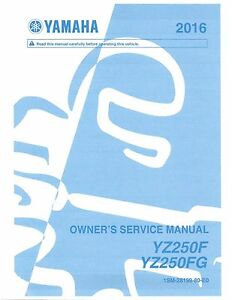 yamaha yz250f manual ebay rh ebay com 2006 yamaha yz250f owners manual download 2006 yamaha yz250f owners manual pdf