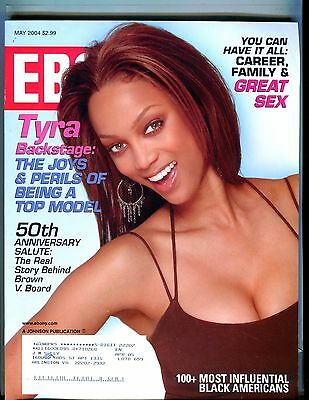 Ebony Magazine May 2004 Tyra Banks Ex W Ml 021717Jhe