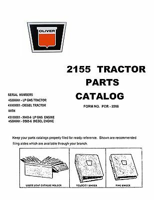 2155 Oliver Mm G1350 Parts Catalog Reproduction