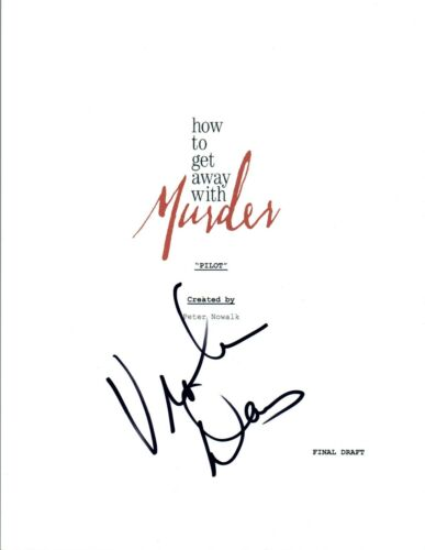 Viola Davis Signed Autographed HOW TO GET AWAY WITH MURDER Pilot Script COA VD