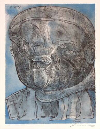 """Jose Luis Cuevas """"coloso"""" 1988   Signed Lithograph   Mexican   Others Available"""
