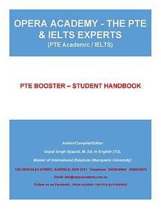 PTE BOOSTER - STUDENT HANDBOOK Sydney City Inner Sydney Preview