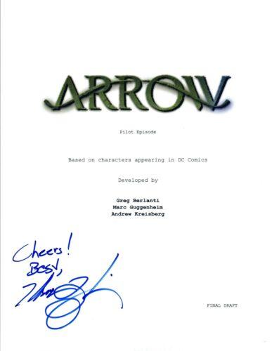Marc Guggenheim Signed Autographed ARROW Pilot Episode Script COA VD