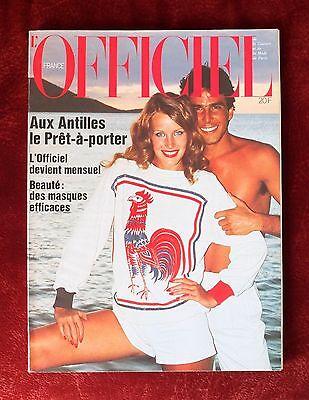 L'Officiel Paris Magazine ~ #631 April 1977 ~ Haussaire Picard Bianchini