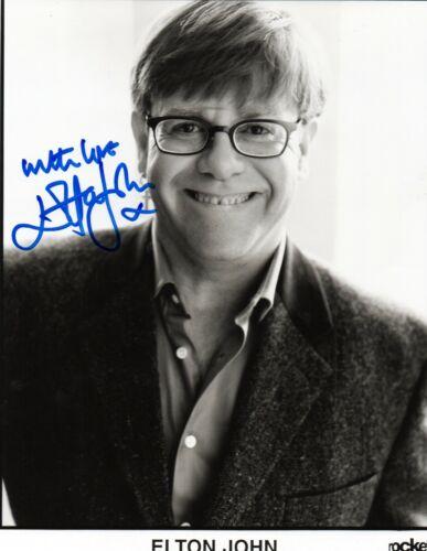 ELTON JOHN signed 8x10 B&W Photo! Rocket Man JSA COA LETTER