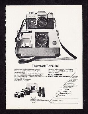 3w2753/ Alte Reklame von 1969 - Teamwork Leicalike - LEITZ - Wetzlar
