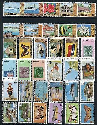 Weeda Kiribati 327//372, J1//O12 VF MNH 1979-1981 issues, SPECIMEN CV $21.10