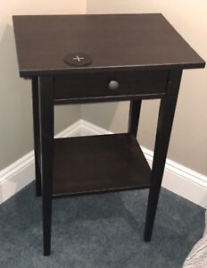 IKEA Hemnes nightstand and integrated wireless charger