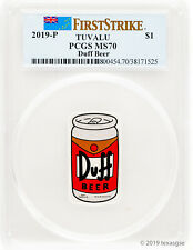 2019-P Tuvalu The Simpsons Duff Beer MS70 First Strike