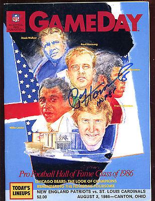 1986 Football Hall of Fame Game Program Paul Hornung Autographed Hologram