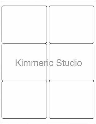 6 Sheets 4 X3 1 3  Blank Stickers White Rectangle 36 Labels  Craft Shows Candles