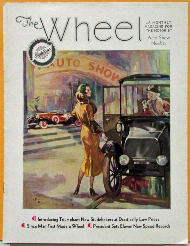 1932 Studebaker Wheel Mag Auto Show Issue President Commander Dictator Six Orig