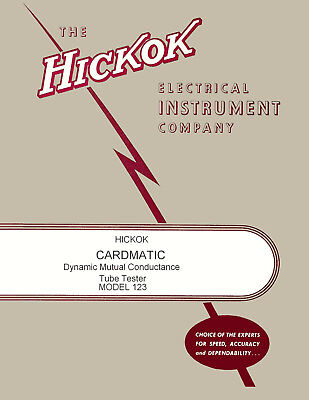 Ultimate Hickok Cardmatic Model 123 123a Oper Service Manual With Test Specs