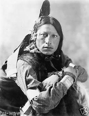 1900 Vintage Photo Native American Joseph two Bulls- Dakota Sioux