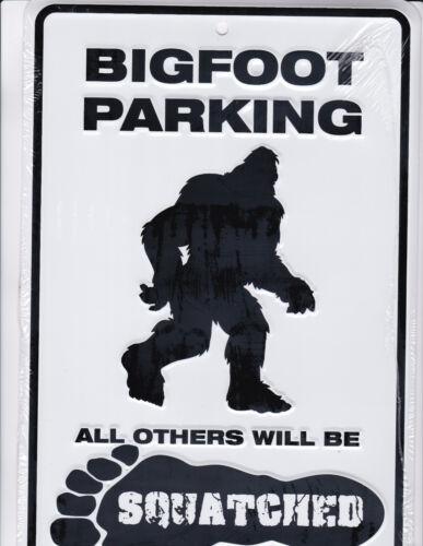 Bigfoot / Sasquatch PARKING SIGN 8x12 metal sign for Big Foot fans