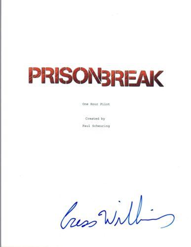 Cress Williams Signed Autographed PRISON BREAK Pilot Episode Script COA VD