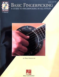 Wanted: Basic Fingerpicking for Guitar, Book & CD tutorials