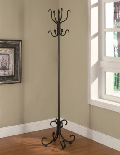 Coaster Traditional Metal Coat Rack With Curved Feet Black