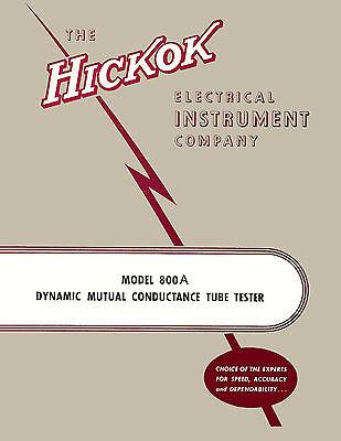 Operators Manual Hickok 800a Tube Tester