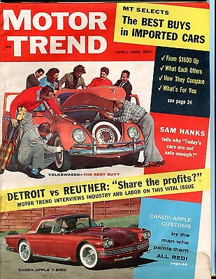 Motor Trend Magazine April 1958 T-Bird Volkswagen EX No ML 052117nonjhe