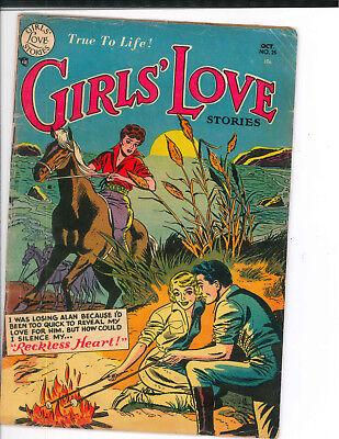 GIRLS' LOVE STORIES #25 (1953) Signal Comics romance GD
