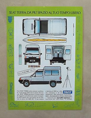 D985 - Advertising Pubblicità -1987 - SEAT TERRA DA PIU' SPAZIO AL TEMPO LIBERO