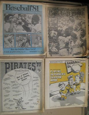 Pittsburgh Pirates Annual Supplements 1977  1980  1981  1984 From Post Gazette