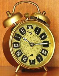 VERY LOUD NEW OLD STOCK Vintage Classic Peter Alarm Clock German Desk Table