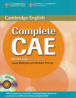 Cambridge COMPLETE CAE Workbook with Answers & Audio CD @NEW@ ENGLISH ADVANCED